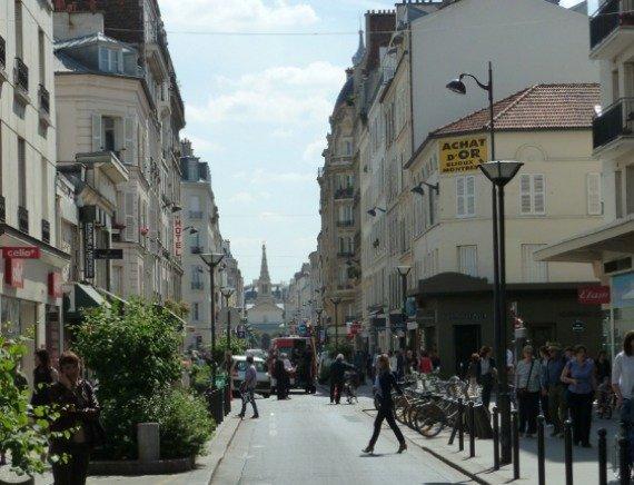 Rue de commerce or commerce street in paris france.jpg