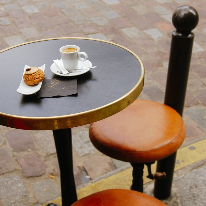 Paris Pastry shop with outdoor seating