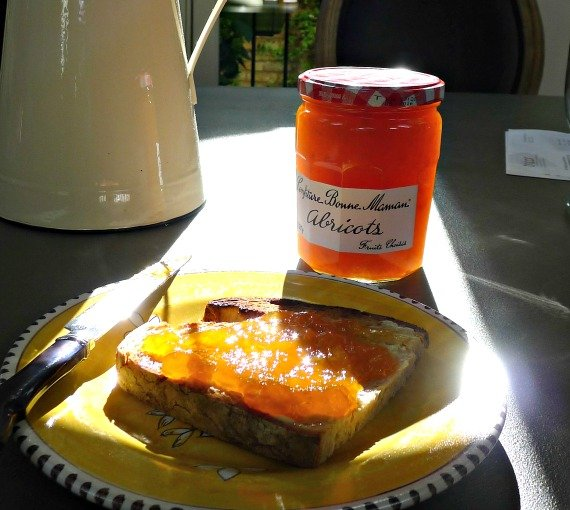 Our favorite salted butter apricot bon maman jam
