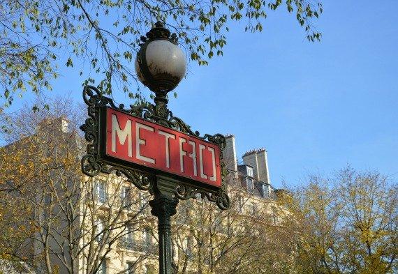 Paris Metro Sign Photo by Laura Thayer