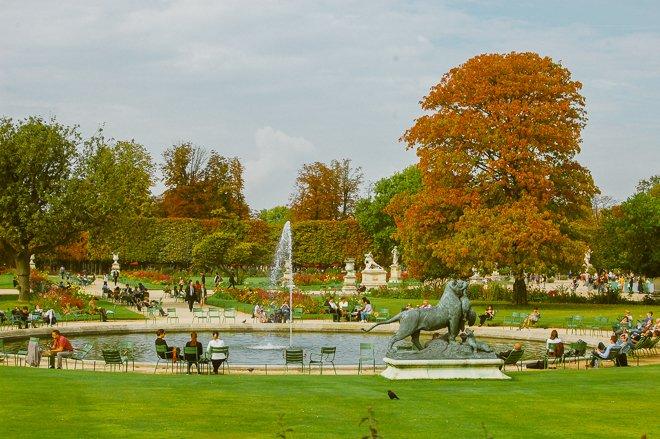 Tuileries Gardens Paris Autumn