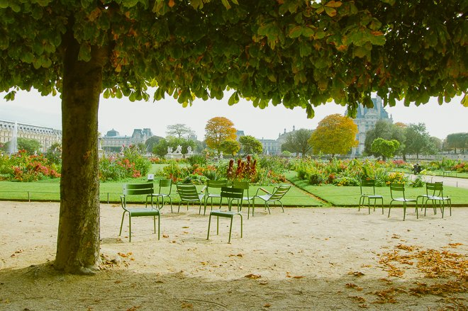 Beautiful Paris Parks in the Autumn
