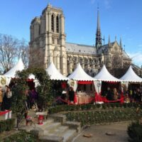 Paris Notre Dame Christmas Market by Heather Cowper