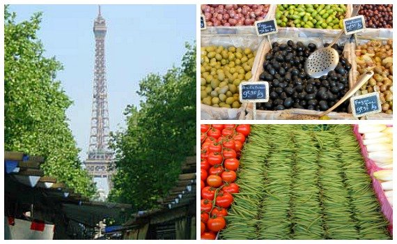Paris Saxe Breteuil Market with Eiffel Tower View