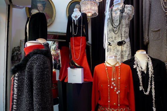 Vintage French Designer Clothing at the Puces