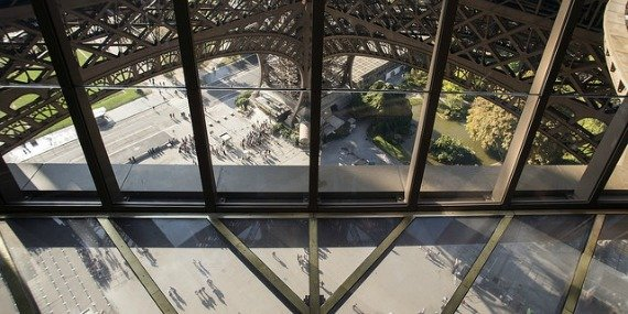 Eiffel Tower View from Glass Floor