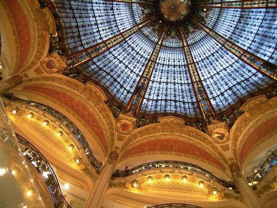 Galeries Lafayette Shopping in Paris