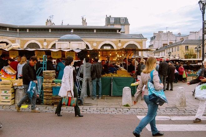 Marché Notre Dame of Versailles market produce fresh Paris