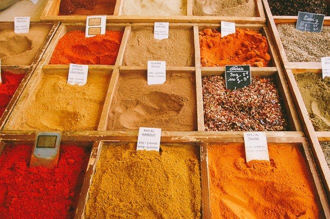 Marché Notre Dame of Versailles market produce fresh Paris spices