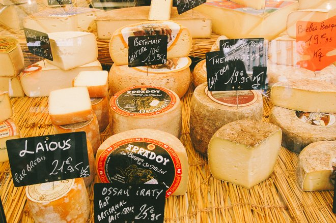 Marché Notre Dame of Versailles market produce fresh Paris cheese fromage
