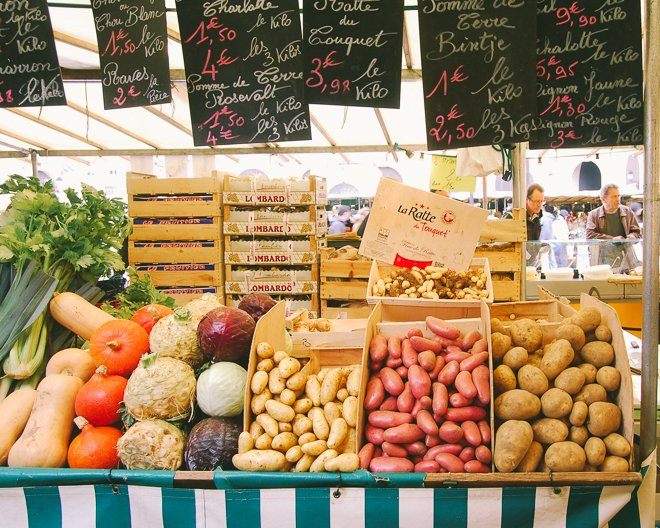 The Freshest Food at the Bustling Open-Air Market of Versailles