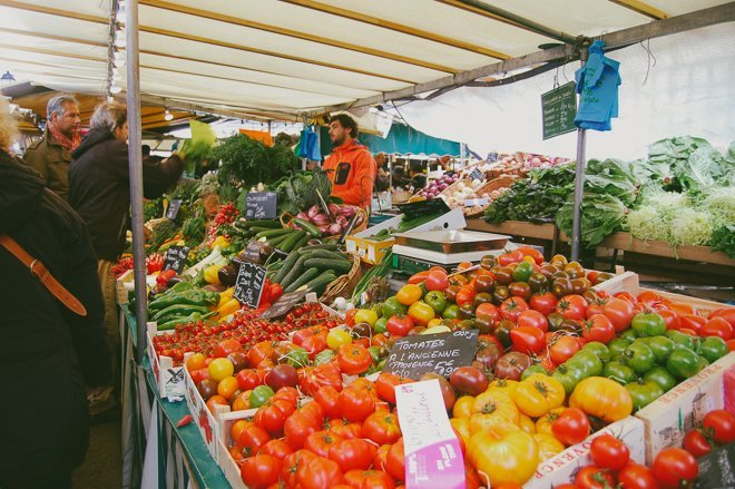 The freshest food at the bustling open air market of for Outdoor food market