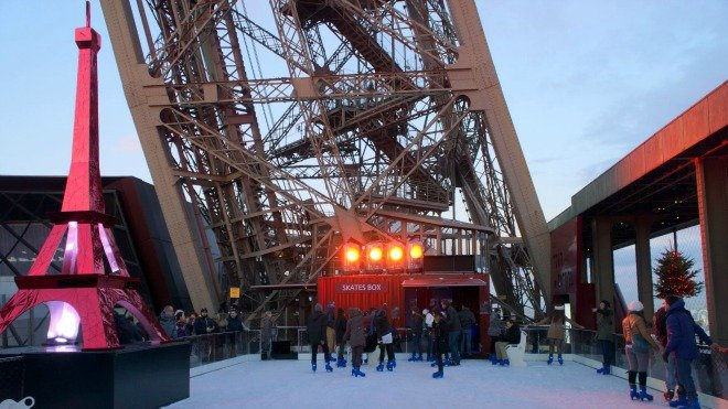 Eiffel Tower Ice Rink Returns