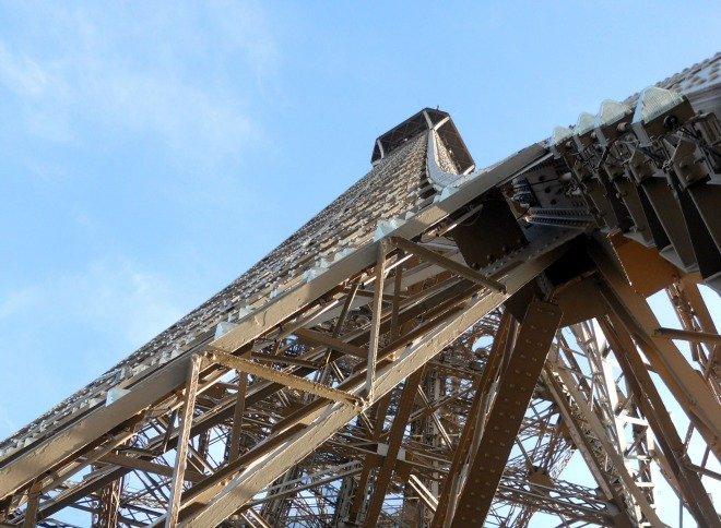 Eiffel Tower Top Level Winter