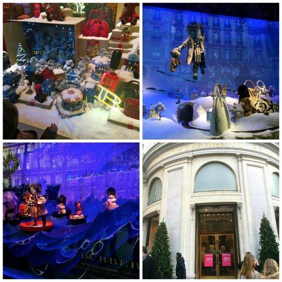 Noel Voyage Magique au Prentemps by Burberry Christmas Paris window displays