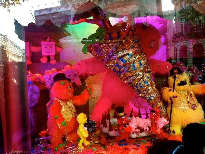 Galeries LaFayette Christmas windows monsters