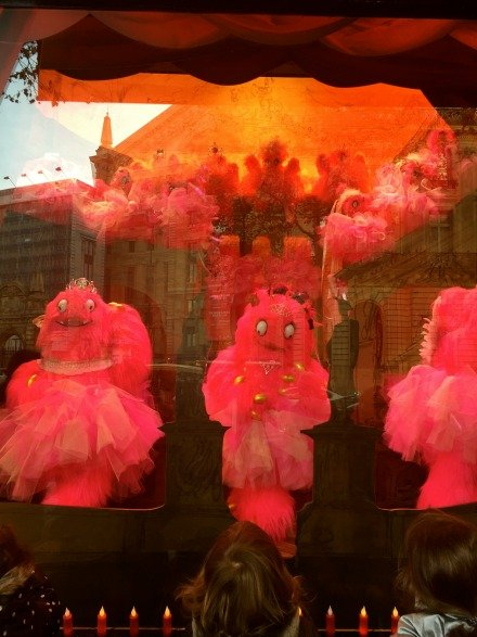 Galeries LaFayette Christmas windows monsters