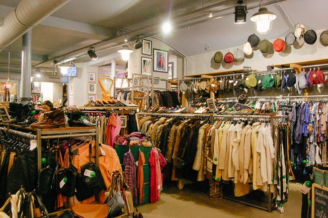 Kilo Shop Vintage clothing store Paris bargain shopping walking