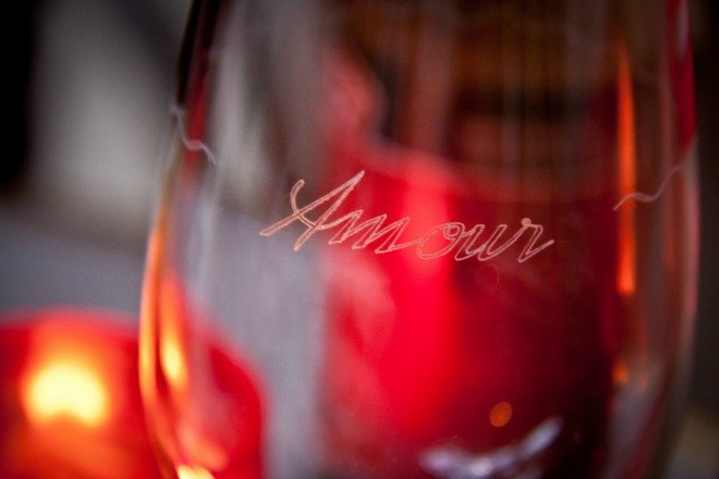 Love Paris wine valentines day amour