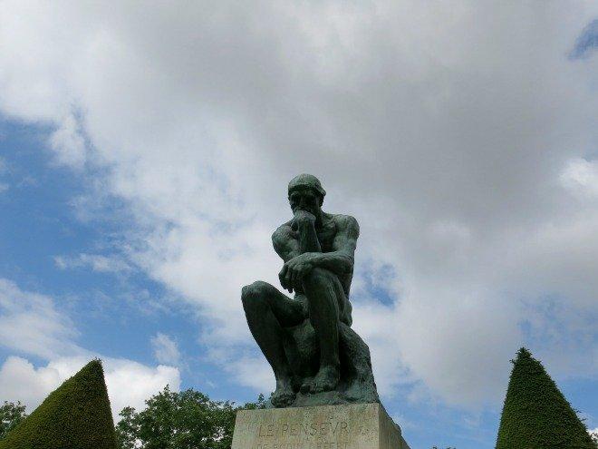 Rodin Musee Paris sculpture thinking valentines day ideas
