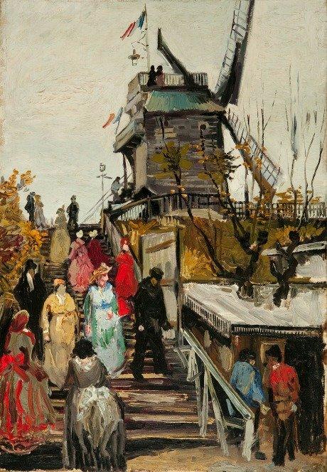 """Le Blute Fin Windmill"", Vincent Van Gogh,1886"