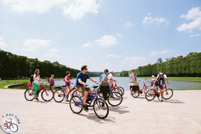 A bike tour is teh best way to explore the beautiful gardens of Versailles