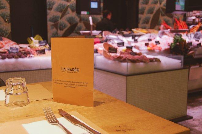 Grand Epicerie at tthe Bon Marche Paris La Maree restaurant