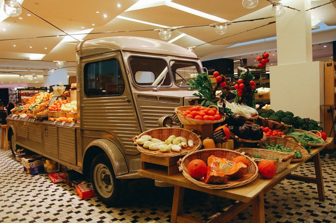 Produce Truck Grand Epicerie the Bon Marche Paris