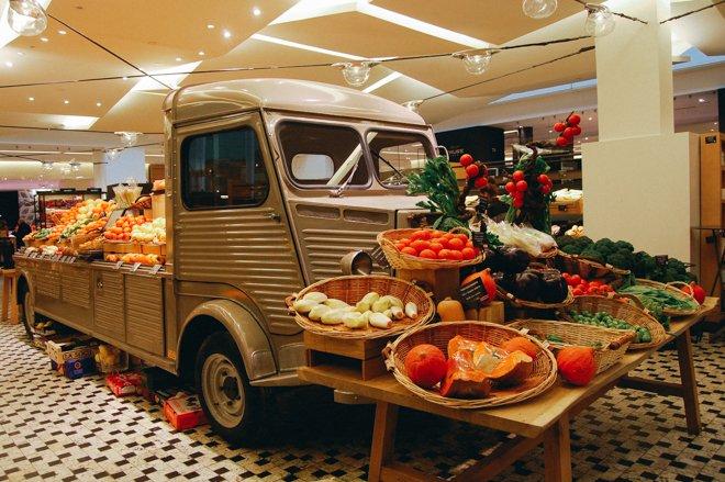 Produce Truck Grand Epicerie the Bon Marche Paris