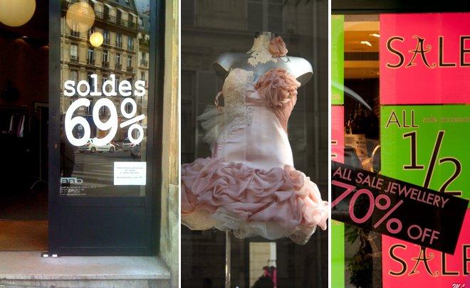 Paris Summer Sale Signs