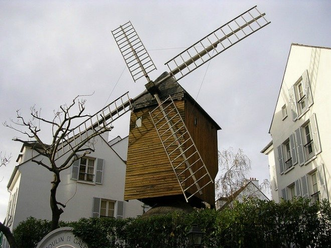 Windmill Moulin Radet Montmartre Paris