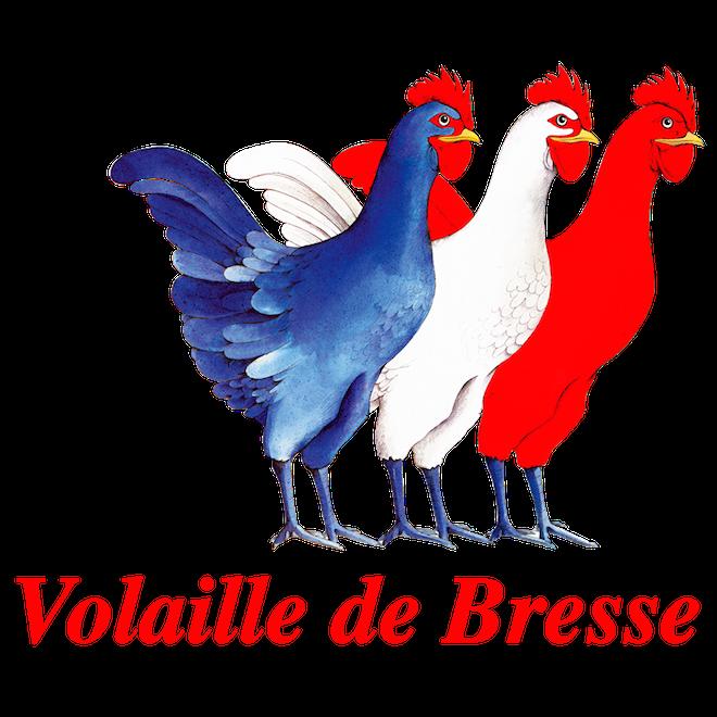 red white blue volaille de Bresse, France