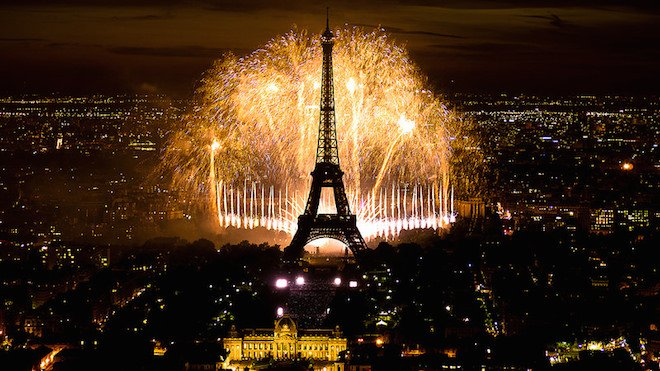 Bastille Day Fireworks, Paris