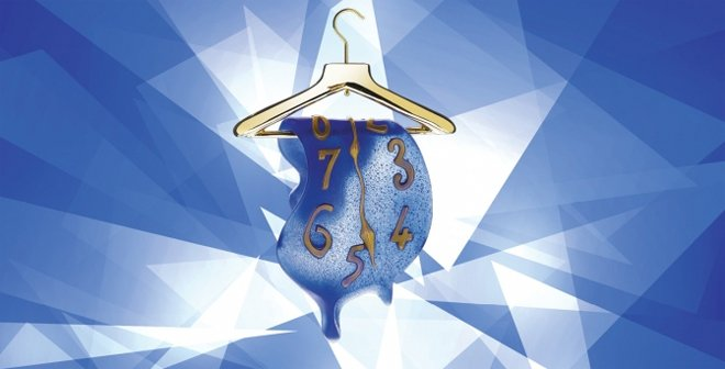 Dali's Porte-manteau-montre glass sculpture, created with the ancient method pâte de verre,