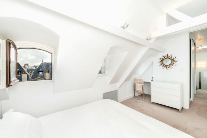 Paris Two Bedroom Apartment for Sale Bedroom with Marais View