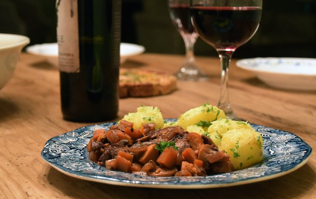 Sweet Potato Coq au Vin – Classic French Comfort with a Twist!