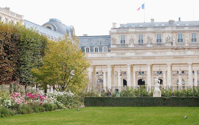 The Palais Royal gardens