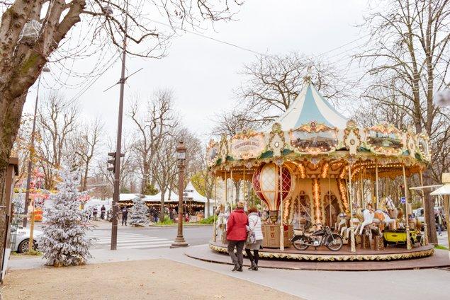 Paris Christmas Market Carousel