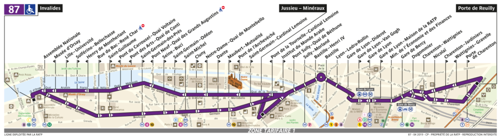 87 Bus Route Paris