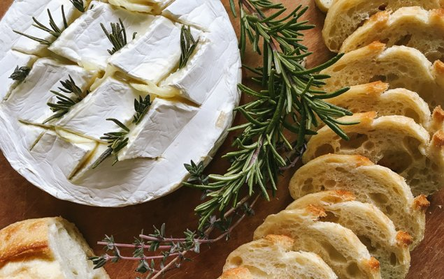 Baked French Cheese with Garlic and Herbs! Recipe for Camembert or Brie.