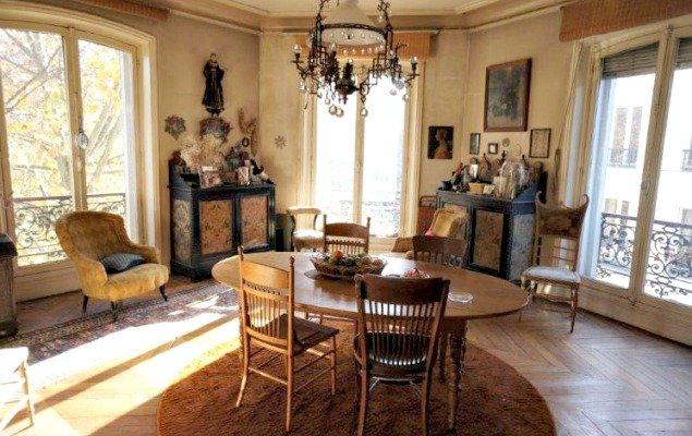 Paris Apartment For Sale Marais - French Windows Sitting Room