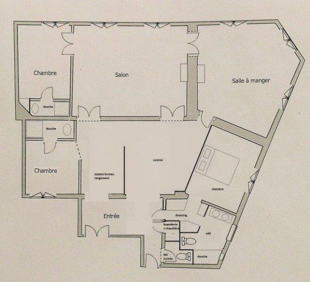 Paris Apartment For Sale Marais - Proposed Floor Plan