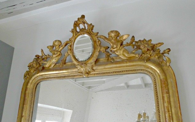 Paris Apartment Remodel - Antique Mirror