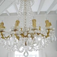 Paris Apartment Remodel - Gorgeous Chandelier