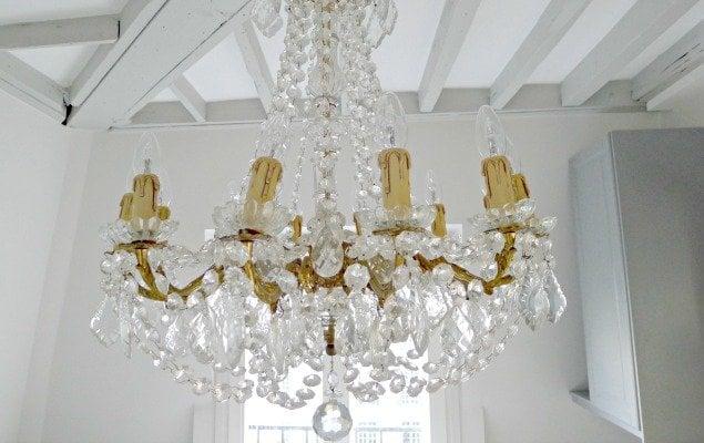 Paris Apartment Remodel - Gorgeous Chandelier