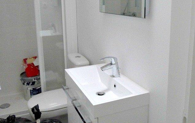 Paris Apartment Remodel - Modern Simple Bathroom