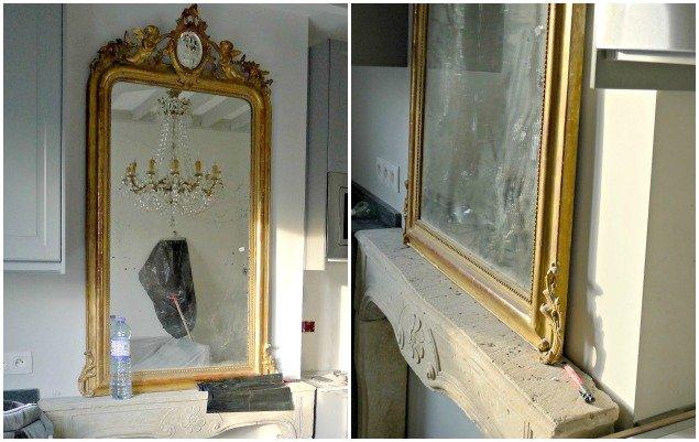 Paris Apartment Remodel - Narrow Fireplace