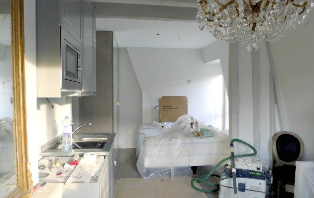 Paris Apartment Remodel - To the Bedroom Area