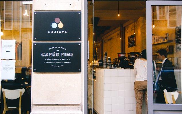 Exploring Paris by Bus - Line 87 - Coutume coffee shop.