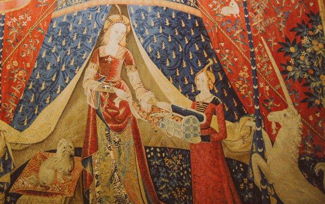 Exploring Paris by Bus - Line 87 - Unicorn Tapestry